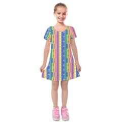 Psychedelic Carpet Kids  Short Sleeve Velvet Dress by Jojostore
