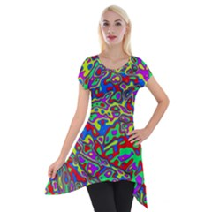 We Need More Colors 35c Short Sleeve Side Drop Tunic by MoreColorsinLife