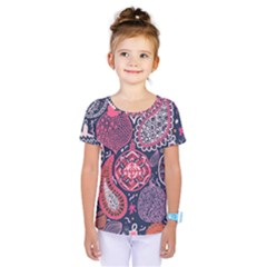 Colorful bohemian purple leaves Kids  One Piece Tee by Brittlevirginclothing