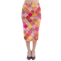 Warm Moroccan Mosaid Midi Pencil Skirt by Brittlevirginclothing