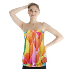 Rainbow Balloon Strapless Top by Brittlevirginclothing