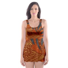 Chicken year Skater Dress Swimsuit