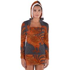 Chicken Year Women s Long Sleeve Hooded T Shirt by Valentinaart
