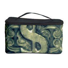 Money Symbol Ornament Cosmetic Storage Case by dflcprints