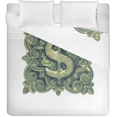 Money Symbol Ornament Duvet Cover Double Side (king Size) by dflcprints