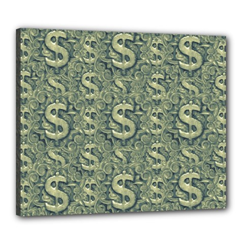 Money Symbol Ornament Canvas 24  X 20