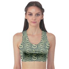 Money Symbol Ornament Sports Bra