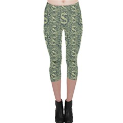 Money Symbol Ornament Capri Leggings
