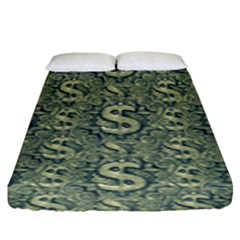 Money Symbol Ornament Fitted Sheet (king Size)