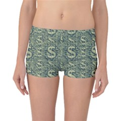 Money Symbol Ornament Boyleg Bikini Bottoms