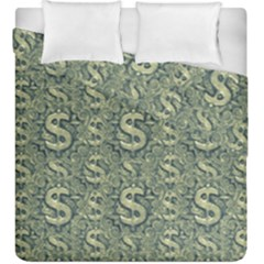 Money Symbol Ornament Duvet Cover Double Side (king Size)