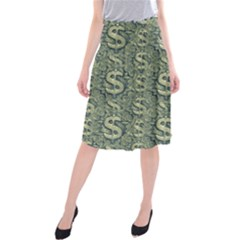 Money Symbol Ornament Midi Beach Skirt