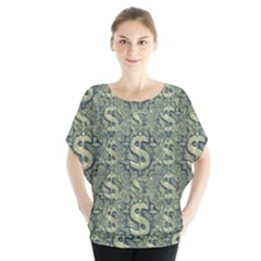 Money Symbol Ornament Blouse