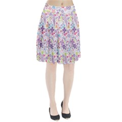 Colorful Flower Pleated Skirt by Brittlevirginclothing