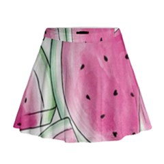 Cute Watermelon Mini Flare Skirt by Brittlevirginclothing