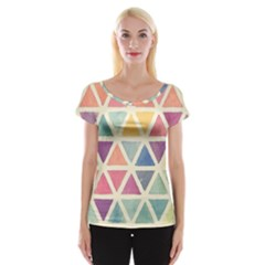 Colorful Triangle Women s Cap Sleeve Top by Brittlevirginclothing