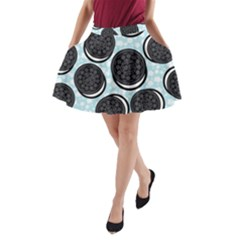 Cute Oreo A Line Pocket Skirt by Brittlevirginclothing