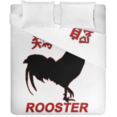 Year Of The Rooster   Chinese New Year Duvet Cover Double Side (california King Size) by Valentinaart