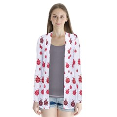 Beetle Animals Red Green Fly Cardigans by Amaryn4rt