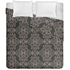 Line Geometry Pattern Geometric Duvet Cover Double Side (california King Size) by Amaryn4rt