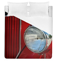 Antique Car Auto Roadster Old Duvet Cover (queen Size) by Amaryn4rt