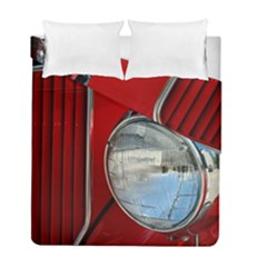 Antique Car Auto Roadster Old Duvet Cover Double Side (full/ Double Size) by Amaryn4rt