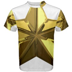 Stars Gold Color Transparency Men s Cotton Tee