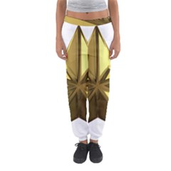 Stars Gold Color Transparency Women s Jogger Sweatpants by Amaryn4rt