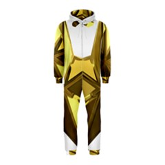 Stars Gold Color Transparency Hooded Jumpsuit (kids) by Amaryn4rt