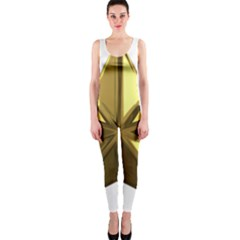 Stars Gold Color Transparency Onepiece Catsuit by Amaryn4rt