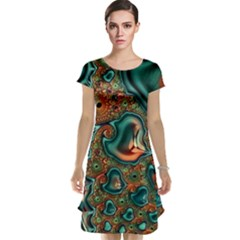 Painted Fractal Cap Sleeve Nightdress by Fractalworld