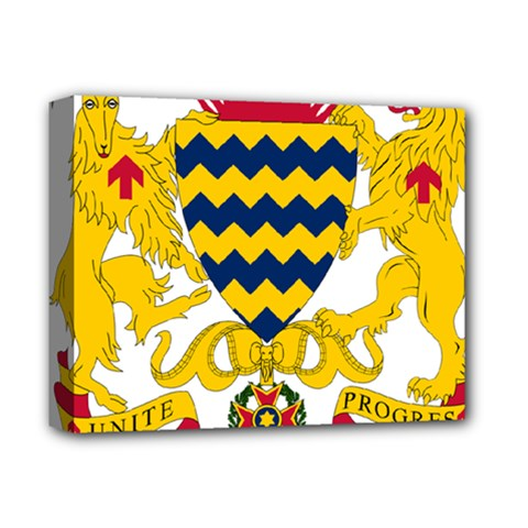 Coat Of Arms Of Chad Deluxe Canvas 14  X 11  by abbeyz71