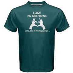 Green I Love My Girl Imagination  Men s Cotton Tee by FunnySaying