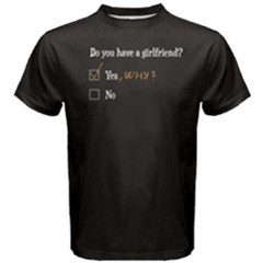 Black Girlfriend Question Men s Cotton Tee by FunnySaying