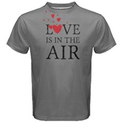 Grey love is in the air Men s Cotton Tee by FunnySaying
