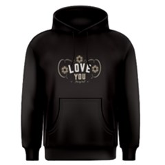 Black Love You From My Heart  Men s Pullover Hoodie