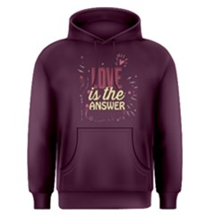 Purple Love Is The Answer Men s Pullover Hoodie by FunnySaying