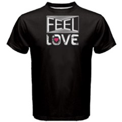 Black feel love Men s Cotton Tee by FunnySaying