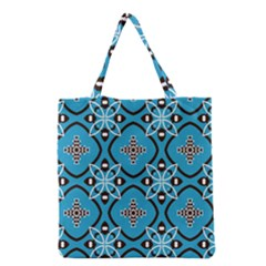 Ornamental Flowers Pattern                                                         Grocery Tote Bag by LalyLauraFLM