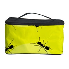 Ant Yellow Circle Cosmetic Storage Case by Jojostore