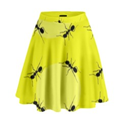 Ant Yellow Circle High Waist Skirt by Jojostore