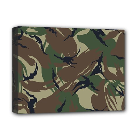 Army Shirt Grey Green Blue Deluxe Canvas 16  X 12