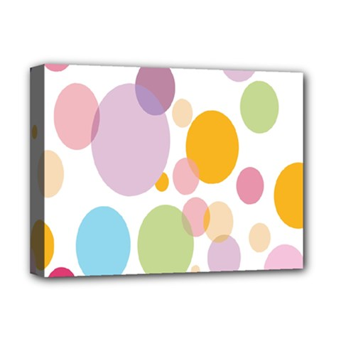 Bubble Water Yellow Blue Green Orange Pink Circle Deluxe Canvas 16  X 12   by Jojostore