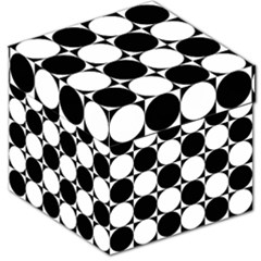 Circles Black White Storage Stool 12   by Jojostore