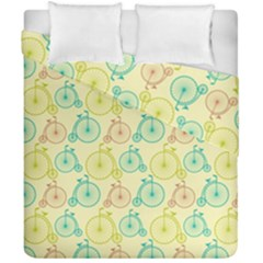 Wheel Bike Round Sport Color Yellow Blue Green Red Pink Duvet Cover Double Side (california King Size) by Jojostore