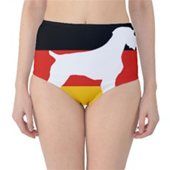 German Wirehaired Pointer Silo On Flag High-Waist Bikini Bottoms by TailWags