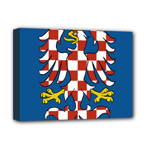 Flag Of Moravia Deluxe Canvas 16  X 12   by abbeyz71
