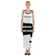 German Shepherd Name Silo Fitted Maxi Dress by TailWags