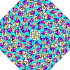 Bunga Matahari Serangga Flower Floral Animals Purple Yellow Blue Pink Golf Umbrellas by Jojostore