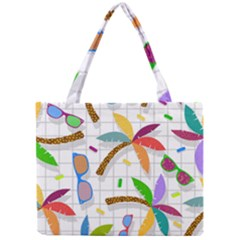 Glasses Coconut Tree Color Rainbow Purple Yellow Orange Green Red Pink Brown Line Mini Tote Bag by Jojostore